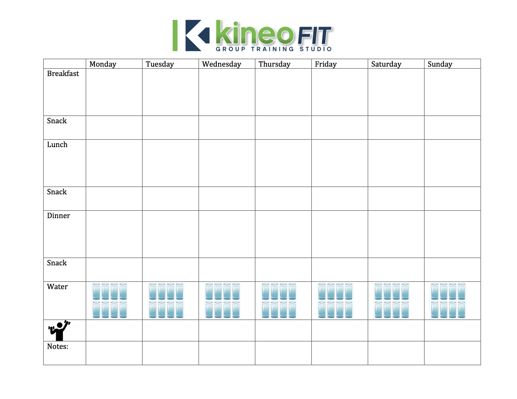 Weight Loss Challenge Week 1: Meal Planning 101 | Kineo Fit